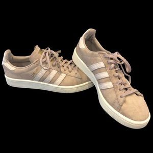 Adidas Campus Sneakers Gold writing